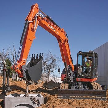 Kubota KX080-4 Power Utility Excavator