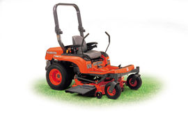 The Kubota ZG222 Gasoline Zer-Turn Mower
