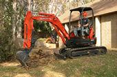 Kubota U25 Zero Tail Swing Compact Excavator