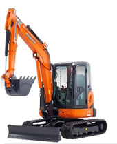 Kubota U55 Tight Tail Swing Compact Excavator