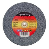 "72401 Forney 6"" x 3/4"" x 1"" Arbor, 36 Grit, Type 1 Bench Grinder Wheel"