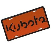 47999 License Plate Kubota Orange