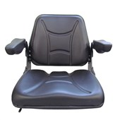 TS1100 Grizzly Style Black Vinyl Universal Seat with Armrests